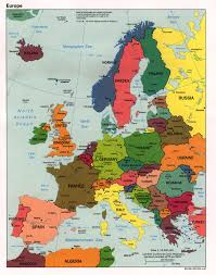 Labeled Map Of Europe by