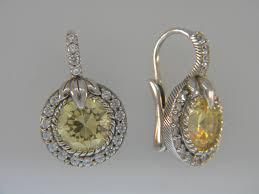 judith ripka earrings judith ripka yellow cz thailand 925 sterling silver earrings set