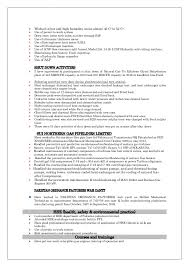 Sample Resume Undergraduate by Cv Imtiaz Ahmed