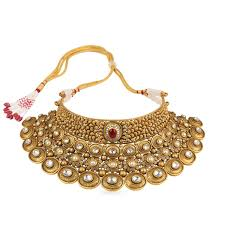 chokers necklace gold images Buy gupta dynasty ethnix gold choker necklace neanbva001 for women jpg