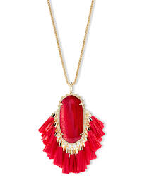 red gold necklace images Betsy gold long pendant necklace in red pearl kendra scott jpg