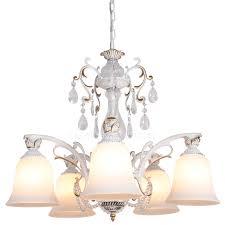 Antique Glass Chandelier 5 Light Antique Glass Shade E27 Lamp Holder Chandeliers