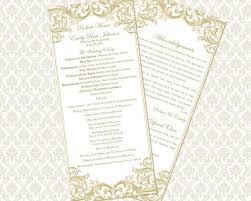 Diy Wedding Ceremony Program The 25 Best Wedding Ceremony Program Template Ideas On Pinterest