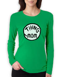 thing mom women long sleeve t shirt funny halloween couples