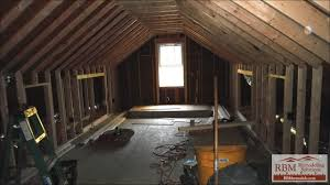 finishing an attic by rbm remodeling solutions
