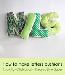how to make a cushion letter dream a little bigger