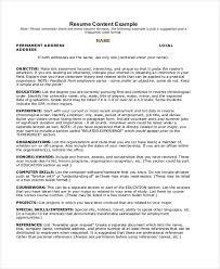 Adding Internship To Resume Summer Job Resumes 9 Free Word Pdf Format Download Free
