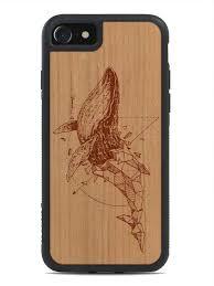 wood geometric laser engraved geometric whale artwork wood iphone 7 7 plus