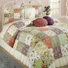 blooming prairie cotton patchwork quilt set bedding patchwork