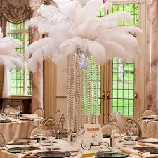 25 30 cm natural white ostrich feathers plume centerpiece for