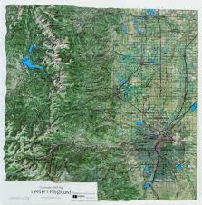 Maps Of Colorado Raised Relief Maps Of Colorado