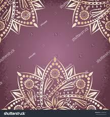 Background Invitation Card Mandala Gold Ramadan Background Invitation Card Stock Vector