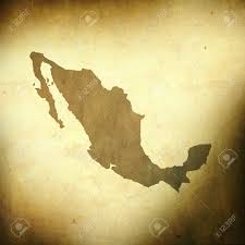Mexico On A Map by There Is A Map Of Mexico On Grunge Paper Background Stock Photo