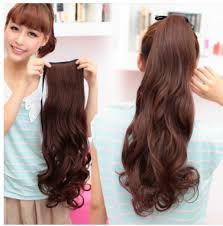 clip on ponytail layered tie up pony clip on hair extensions wrap