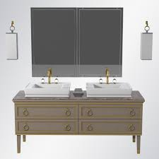 luxury bathroom furniture 3d model