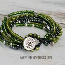 diy braided bracelet with beads images Braided bead and hemp bracelets happy hour projects jpg