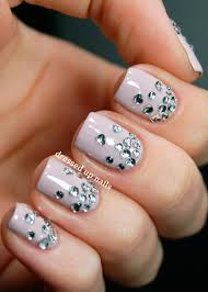 diamond nail art youtube pink nail designs with diamonds best