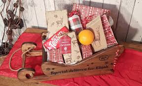 personalised engraved gift sleigh large antique pine