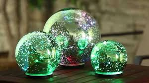 green color changing mercury glass globes 845007 from evergreen