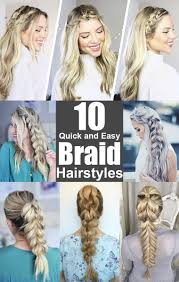 Hairstyles Easy And Quick by Braid Styles Braids For Long Hair Braids For Short Hair Easy