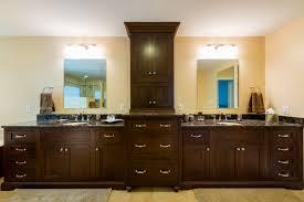 painted bathroom cabinet ideas cream wall paint dark brown real wood vanity with storage drawers