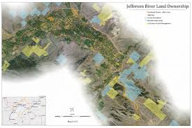 Montana Cadastral Mapping by Jefferson River Canoe Trail Maps Conservation Recreation Lewis