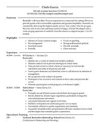 Resume Objective For Restaurant Resume Objective Example Bartender Resume Ixiplay Free Resume