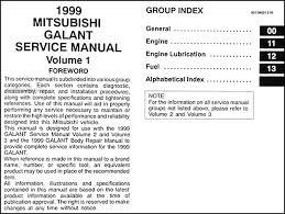 1999 mitsubishi galant repair shop manual 3 volume set original