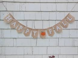 happy fall burlap banner fall bunting fall garland happy