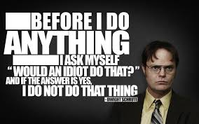 quotes typography the office dwight schrute rainn wilson