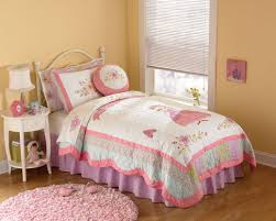 pics photos butterfly kisses girls twin bedding set purple