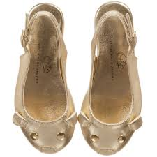 marc jacobs girls gold mouse leather sandals childrensalon