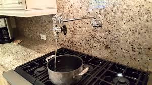 Wall Mount Pot Filler Kitchen Faucet Pots Pot Filler Installation Images Pot Filler Installation Cost