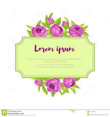 Congratulation Banner Pink Vintage Flowers Around The Frame With Sign For Wedding