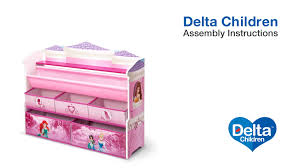 Minnie Mouse Toy Organizer Delta Children Deluxe Book U0026 Toy Organizer Assembly Video Youtube
