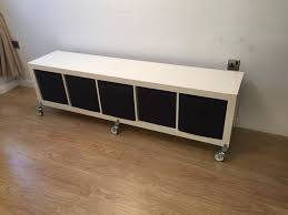 ikea kallax bench ikea kallax storage unit with boxes and on wheels in bletchley