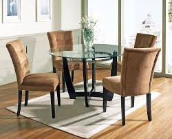 Teak Wood Dining Table Black Teak Wood Base With Round Glass Top Dining Table Combined