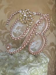 pearl monogram cake topper 61 best huruf images on cake wedding wedding cake