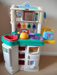 Kitchen Set Toys Box Fisher Price Kitchen Play Set And Box Of Accessories For Toddlers