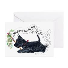 scottish terrier birthday greeting cards pk o by tailend