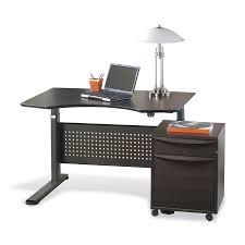 Jesper Sit Stand Desk Shop Jesper Office Espresso Adjustable Standing Desk At Lowes