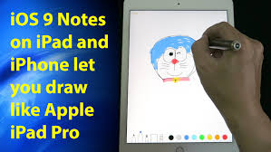 ios 9 notes on ipad u0026 iphone let you draw and sketch like apple