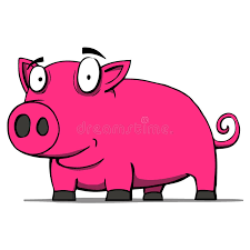 cute pig cartoon vector illustration royalty free stock image