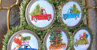 easy to make ornaments with jar lids hometalk