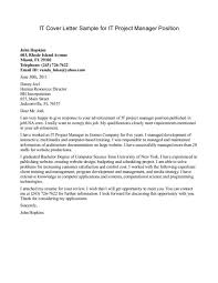 cover letter it director cover letter sample cover letter for it