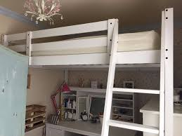 Ikea Wood Loft Bed Instructions by White Double Loft Bed From Ikea Stora Includes All Fixings And