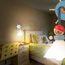 chambre enfant pirate pirate applique murale de lecture ø150mm enfant bleu