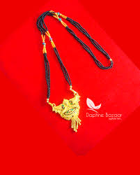 Best Gift For Wife 2017 Me53 Daphne Handmade Golden Mangalsutra Necklace With Black