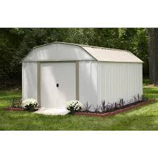 Backyard Storage Units Arrow Lexington 10 U0027 X 14 U0027 Storage Shed Free Shipping Today