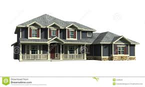 3d model of two level house royalty free stock images image 2228849